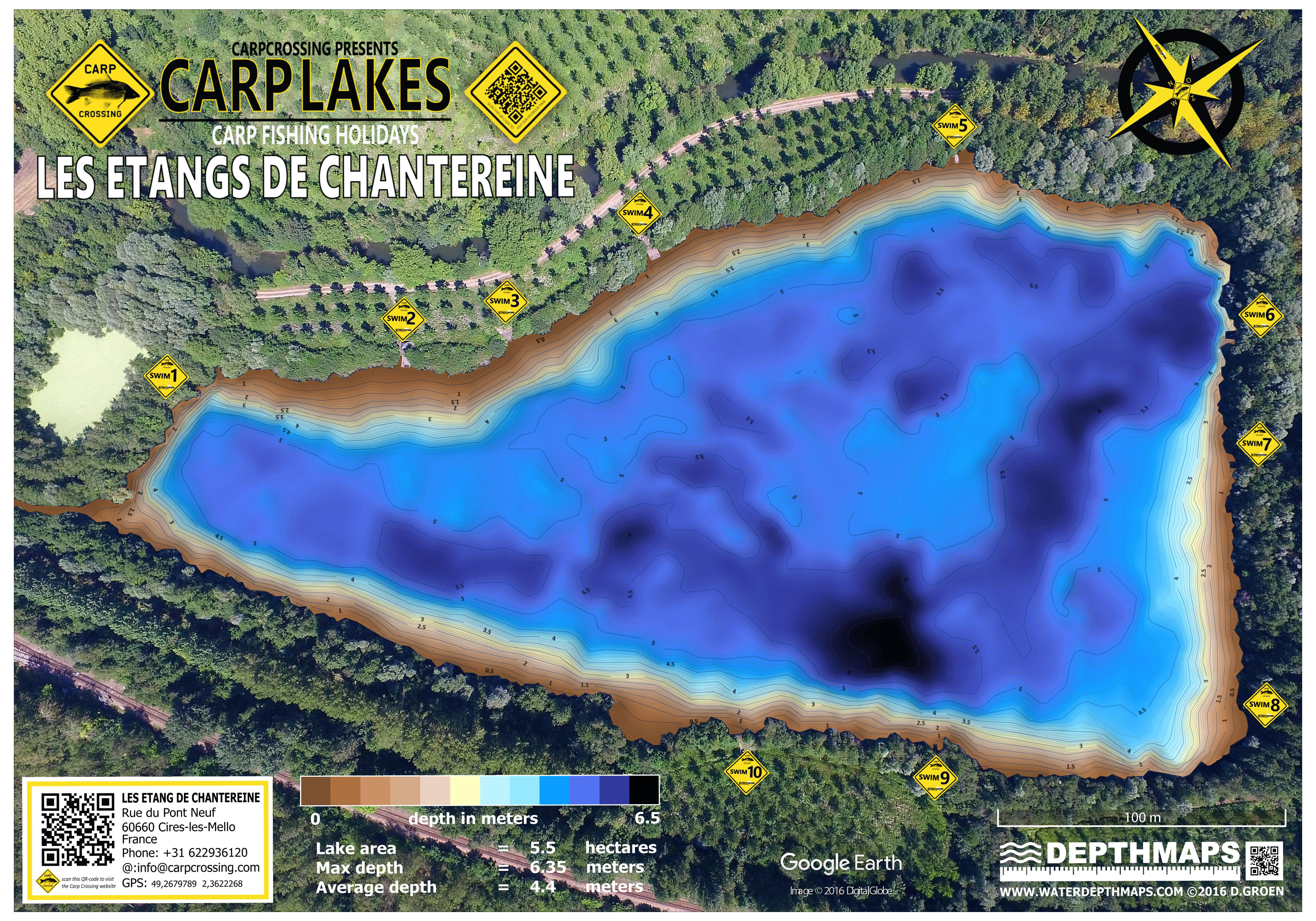 carplakes-lake-map-etang-de-chantereine